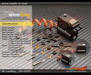 ServoKing DS-695P Digital Std Size Servo (0.05s, 21kg @ 8.4V, Plastic Case)